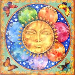 Sun Folk Art Painting