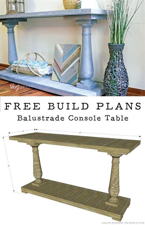 build  diy balustrade console table   build