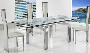 Incredible extendable glass dining table set expandable for Incredible dining room tables extendable