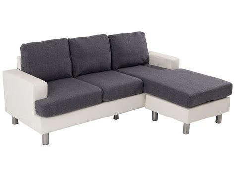 canapé d angle 200 euros canapé d 39 angle fixe 3 places en tissu ronane coloris blanc