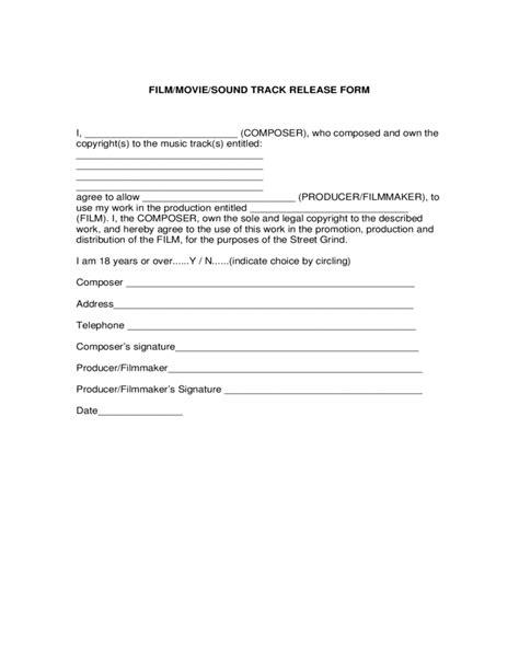 filmmoviesound track release form