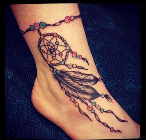 cute dreamcatcher tattoos  ankle