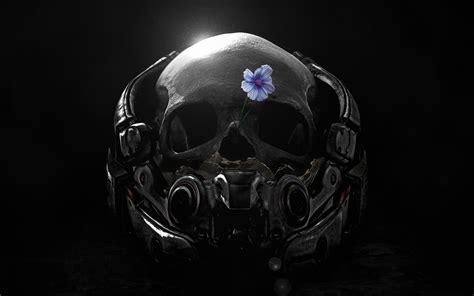 Black Skulls 3d Wallpapers by Wallpaper Skull Mass Effect Andromeda 4k Creative