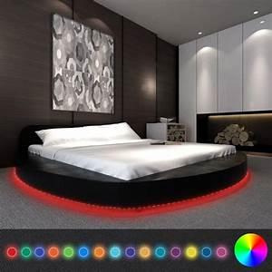 Bett Mit Led : vidaxl bett mit matratze und led 180x200 cm rund real ~ Orissabook.com Haus und Dekorationen
