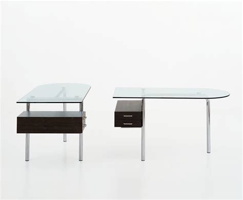 bureau design italien mirto de halifax bureau en verre et métal au design italien