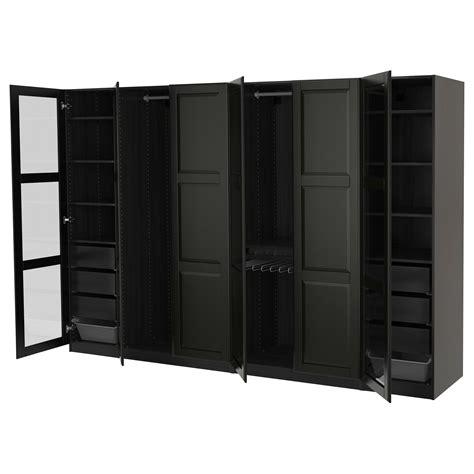 Black Brown Wardrobe Closet by Ikea Pax Wardrobe Black Brown Undredal Undredal Glass