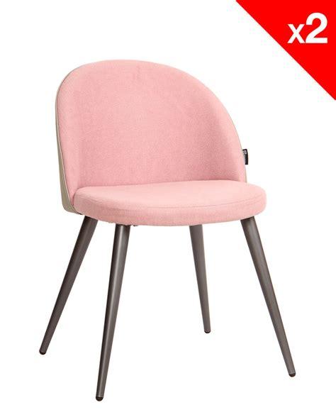 chaise vintage scandinave chaise vintage métal et tissu gaufré lot de 2
