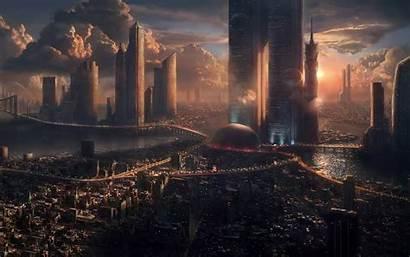 Future Fantasy Wallpapers Cities Futuristic Desktop Alien