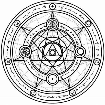 Symbols Circle Magic Paper Summoning Protection Pentacle