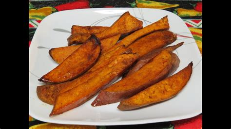 sweet potato  yam fries cooked   toaster oven youtube