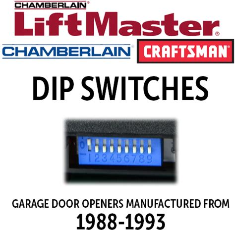 Dip Garage by Liftmaster Dip Switch Remotes For 1988 1992 Openers