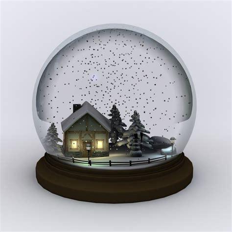 snow globe snowglobe 3d 3ds