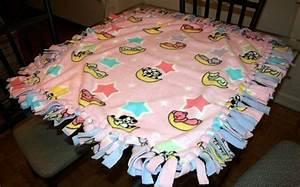 No Sew Fringe Fleece Blanket  U00b7 A Fleece Blanket  U00b7 Sewing