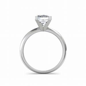 V prong princess cut engagement ring for Princess cut solitaire engagement ring with wedding band
