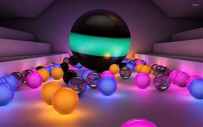 Marbles Wallpapers Glass 3d Glowing Computer Backgrounds