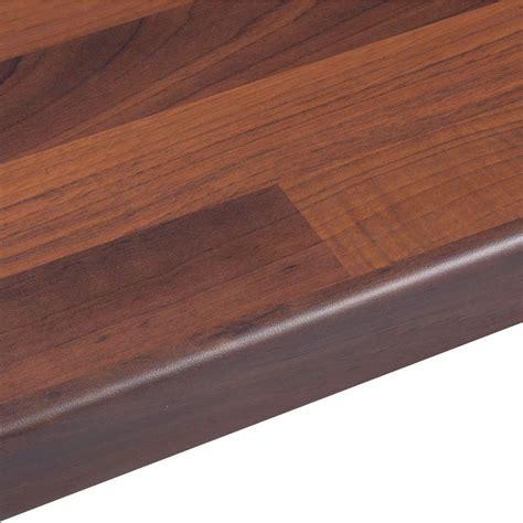 mm walnut butchers block wood effect  edge worktop