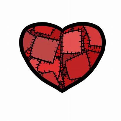 Stitch Stitches Clipart Heart Stitched Transparent Hollow