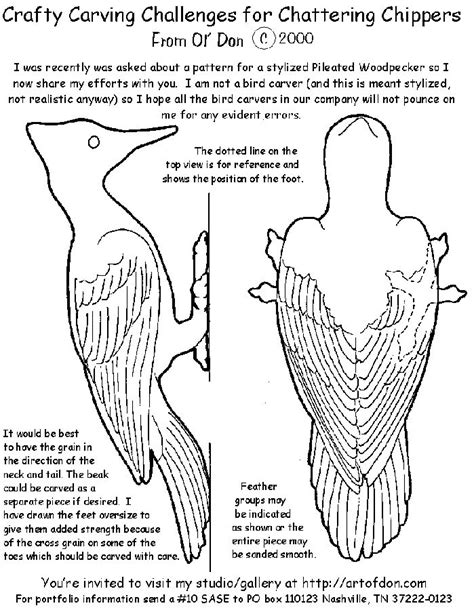 Free Wood Carving Patterns Birds - WoodWorking Projects