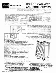 Craftsman 706650280 User Manual 8 Drawer Roller Cabinet