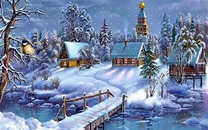 Winter Wallpapers Desktop Backgrounds Christmas Today Snow