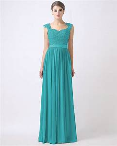 real model turquoise bridesmaid dresses lace applique With long dresses for wedding party