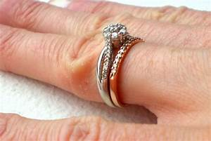 bees with white gold engagement rings and rose gold With rose gold engagement ring white gold wedding band