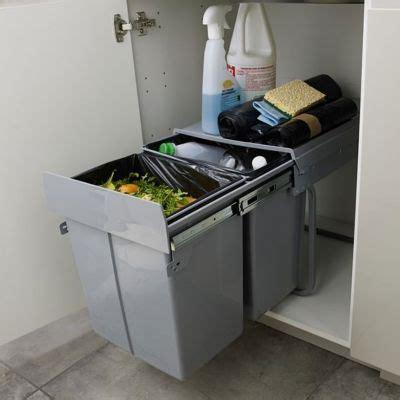 poubelle de placard cuisine poubelle de porte scala 2 x 20 l castorama