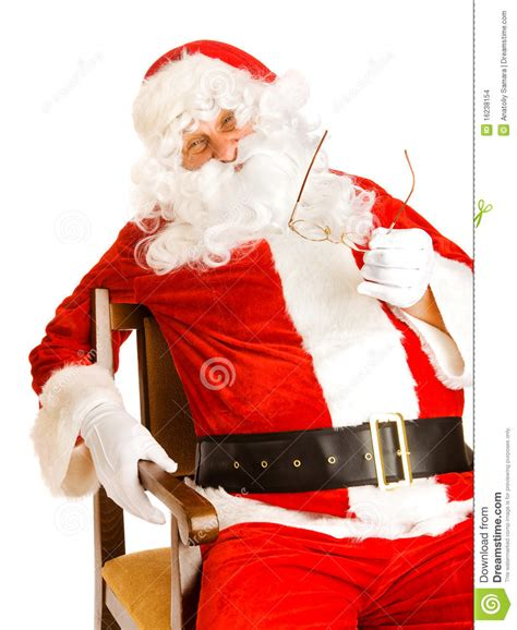 santa in chair stock images image 16238154