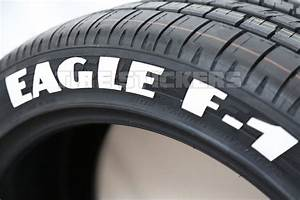 eagle f1 tire stickers white tire lettering tire With white letter decals