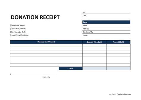 Donation Receipt Template Donation Receipt Template Excel Templates Excel
