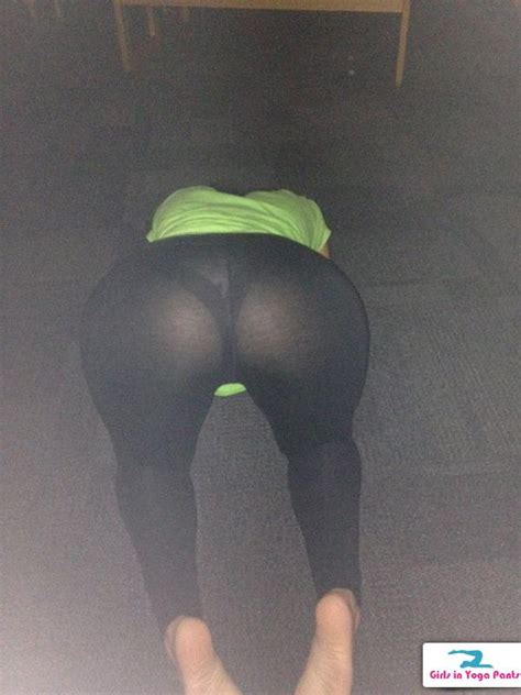 See Through Yoga Pants Bent Over Thong | CLOUDY GIRL PICS