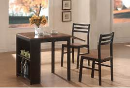 Breakfast Table Set In Black Walnut Casual Kitchen Dining Tables Room Furniture For Small Spaces Beautiful Dining Room Table Sets Sets Small Dining Room Sets Small Dining Room Table Small Dining Set Round Counter Height Dining Room Set For Small Space Design