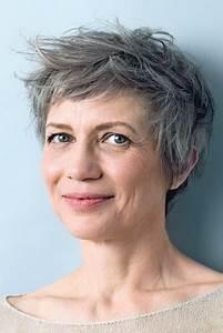 Coupe Cheveux Gris Femme 60 Ans : fantastique coupe courte femme 50 ans cheveux gris ma ~ Voncanada.com Idées de Décoration
