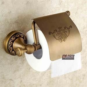 Unique, Style, Artistic, European, Copper, Antique, Toilet, Paper, Holder, Tissue, Box, Bathroom