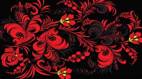 1920x1080 Wallpaper khokhloma pattern color background
