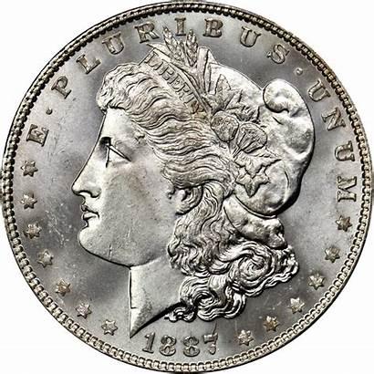 Dollar Silver Morgan Value Coin 1887 Gold