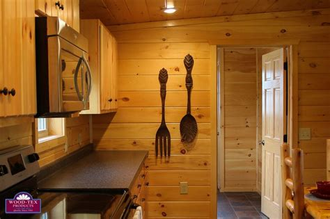 cabins floor 7 beautiful cabin kitchens bonus basement bar wood tex