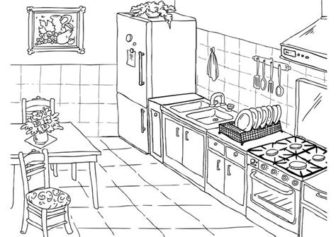 Coloring Pages Kitchen 06