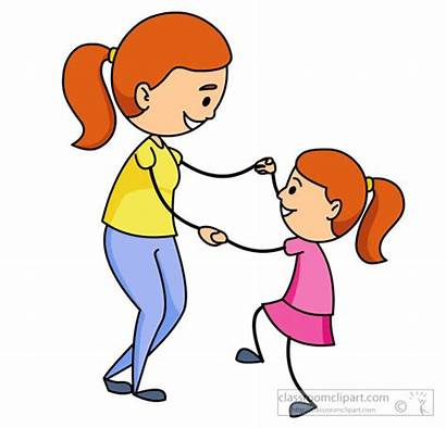 Daughter Mother Dancing Together Dance Clipart Classroom