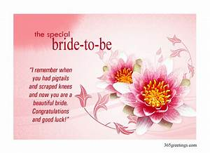 Bridal shower greetings post card from 365greetingscom for Wedding shower cards messages