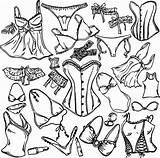 Underwear Coloring Lingerie Woman Pages Getdrawings Printable Vector Getcolorings Istockphoto sketch template