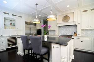 Open Plan Soft White Cabinets Contrasting Dark Floors
