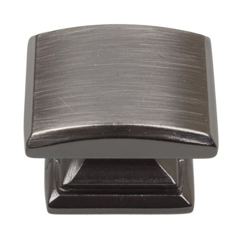 Square Cabinet Knobs by Gliderite 1 1 4 In Brushed Pewter Domed Convex Square