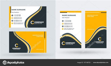 id card design landscape  power point template