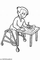 Secret Code Dibujos Discapacitados Personas Template sketch template