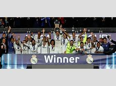 The third UEFA Super Cup Real Madrid CF