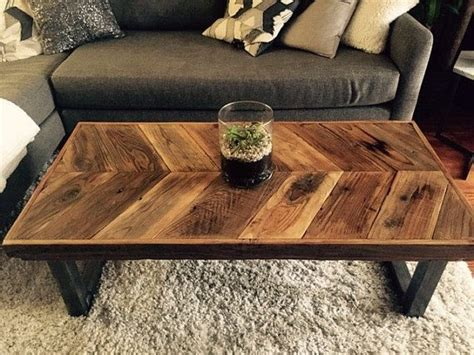My dad refinished a coffee table a few years ago for my sister that she found on the curb. 50 Inspirations Reclaimed Wood and Glass Coffee Tables | Coffee Table Ideas
