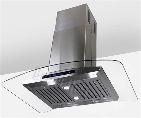 chimney exhaust fans 36 034 island mount stainless steel kitchen range hood
