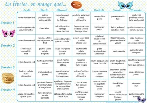 recette de cuisine cookeo menus au mois et à la carte février 2016