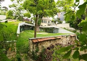 Maison Semi Enterrée : maison plj par hertweck devernois architectes urbanistes ~ Voncanada.com Idées de Décoration